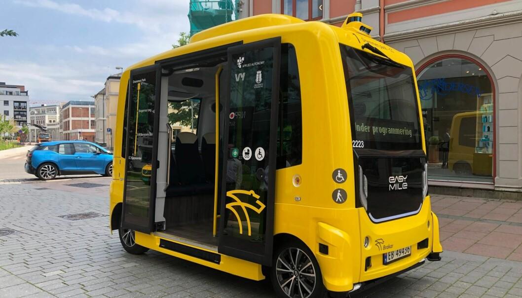 SNASEN SAK: Det er sitteplass til seks passasjerer på bussen, som også er tilrettelagt for rullestolbrukere.
