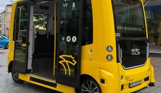 Byens første selvkjørende busslinje er et faktum