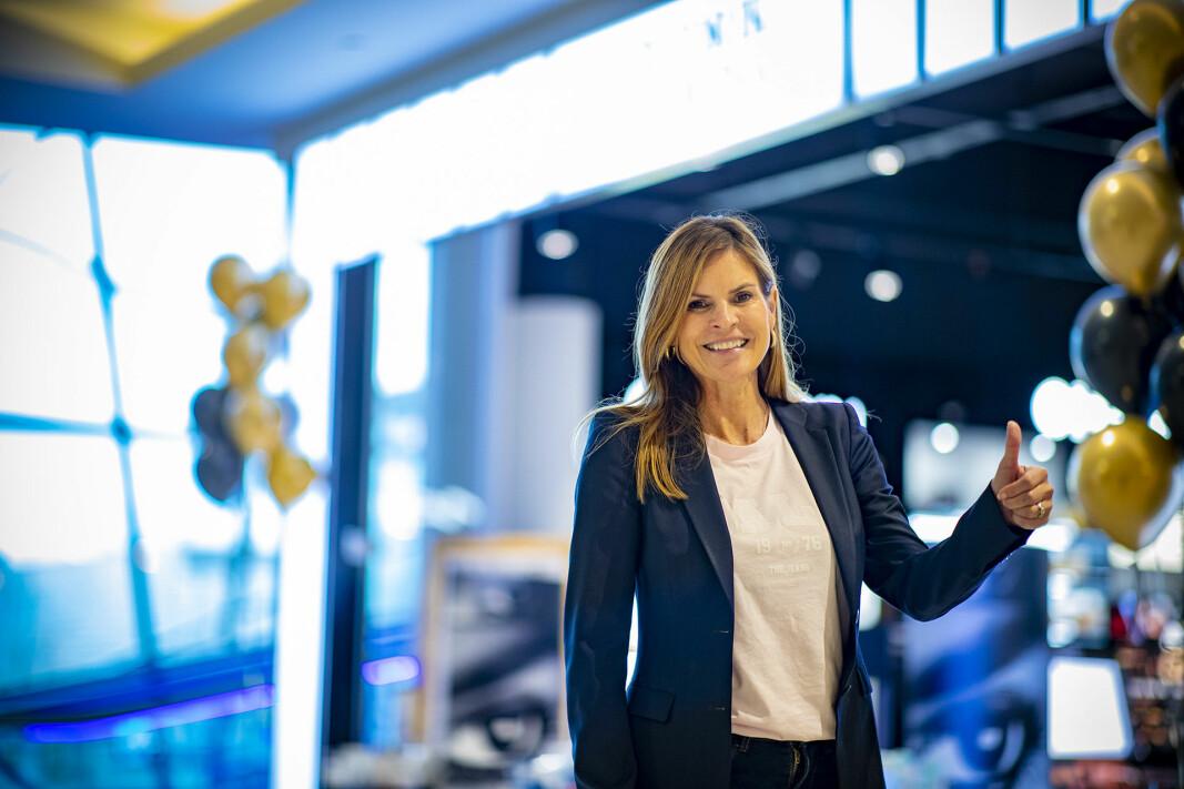 SENTERLEDER: Elisabeth Lohk gleder seg over nye leietagere.