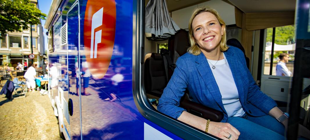 Listhaug startet valgkamp-turnéen i Drammen
