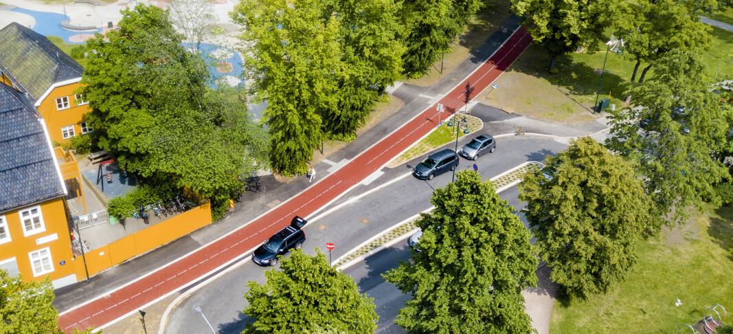 Åpner «autostrada» for syklister: – Den første av sitt slag i Drammen