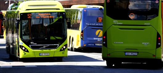 Antall bussreisende på vei mot nivået før pandemien