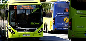 Antall bussreiser på vei mot nivået før pandemien