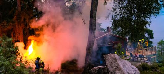 Flere skogbranner og hyttebrann etter lynnedslag