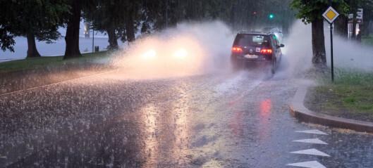 Uværet: Fikk 20mm regn på én time - utvider farevarsel