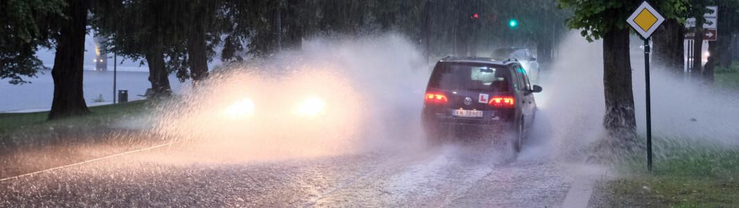 Uværet: Fikk 20mm regn på én time
