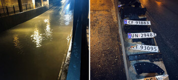 Tunnel ble oversvømt:  – Plukket bildeler i to timer!