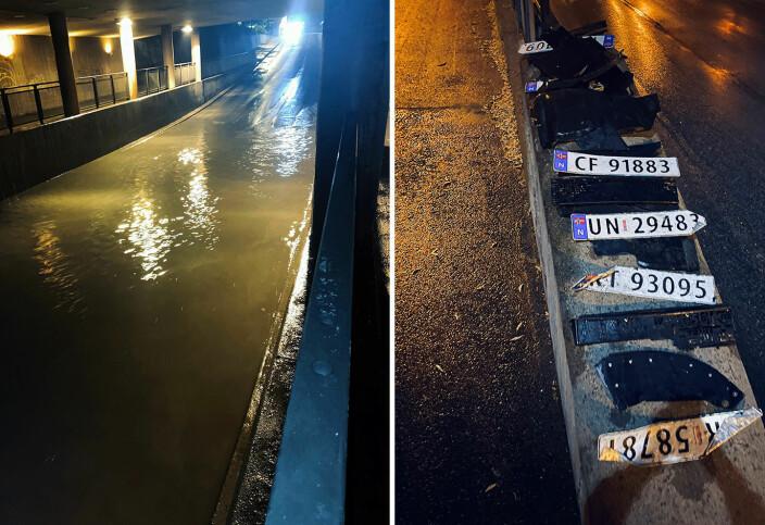 Tunnel ble oversvømt:– Plukket bildeler i to timer!