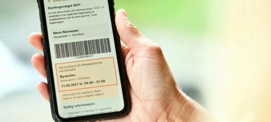 I år får du digitalt valgkort