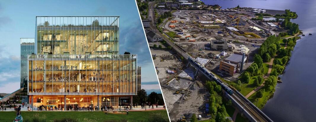 NYE BILDER: Slik blir gigant-prosjektet på BrakerøyaSignalbygg og inngangs-portal til ny helsebydel