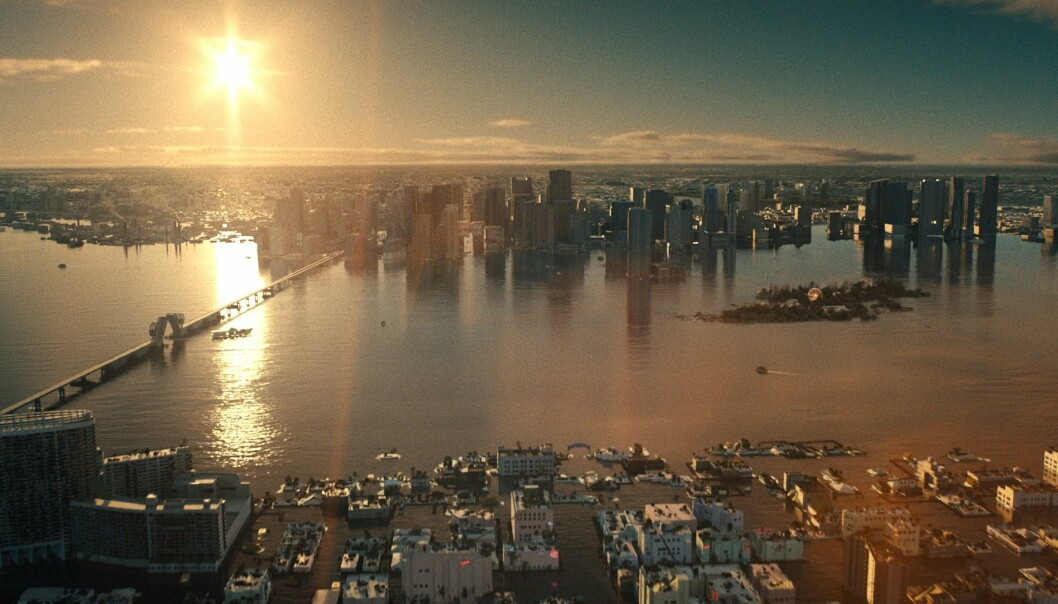 "<span class="" italic"" data-lab-italic_desktop=""italic"">En permanent oversvømt Miami i en nær fremtid lider av enda kraftigere varme fra Solen</span>"