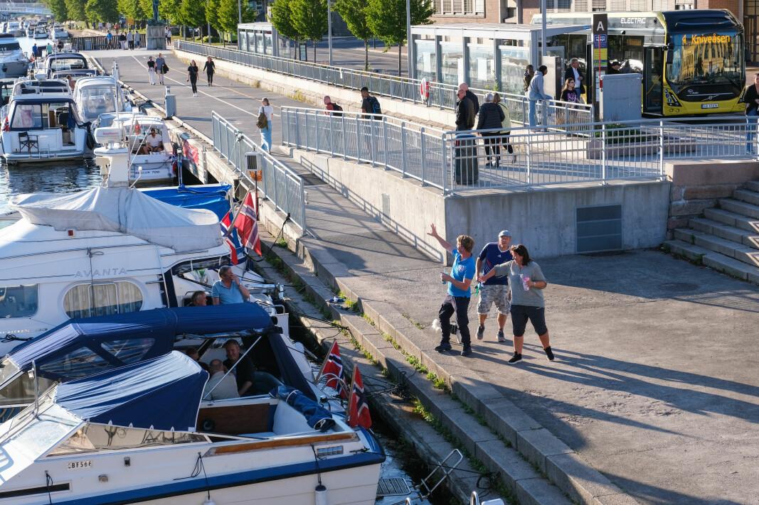 SPERRES AV: Dette området blir mandag sperret av for bruk til rigg-område. Alle båter som ligger på stedet må derfor fjernes.
