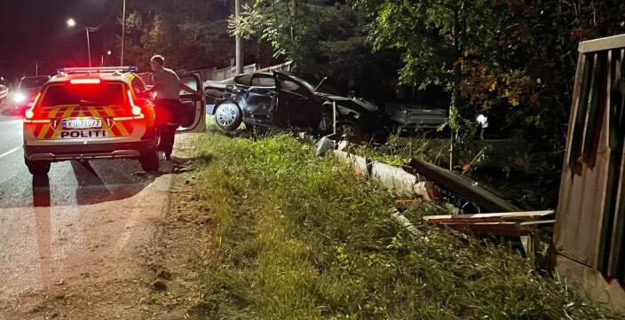 Begge i bilen var ruset:Her endte kjøreturen