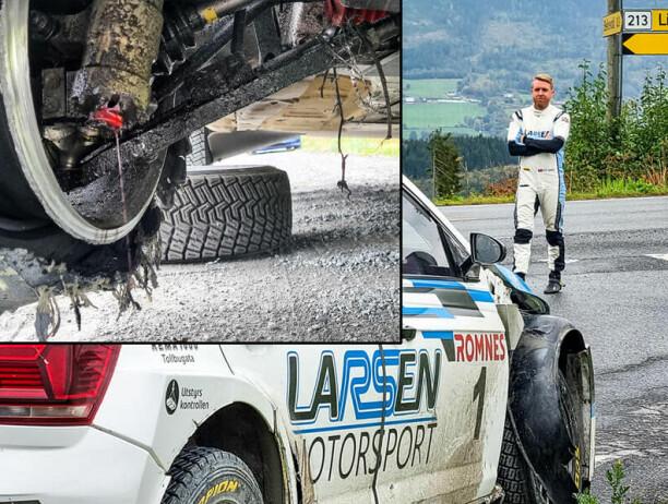 NM-vinneren ledet løpet da dekket eksploderte:- Måtte velge mellom fjellveggen og grøfta