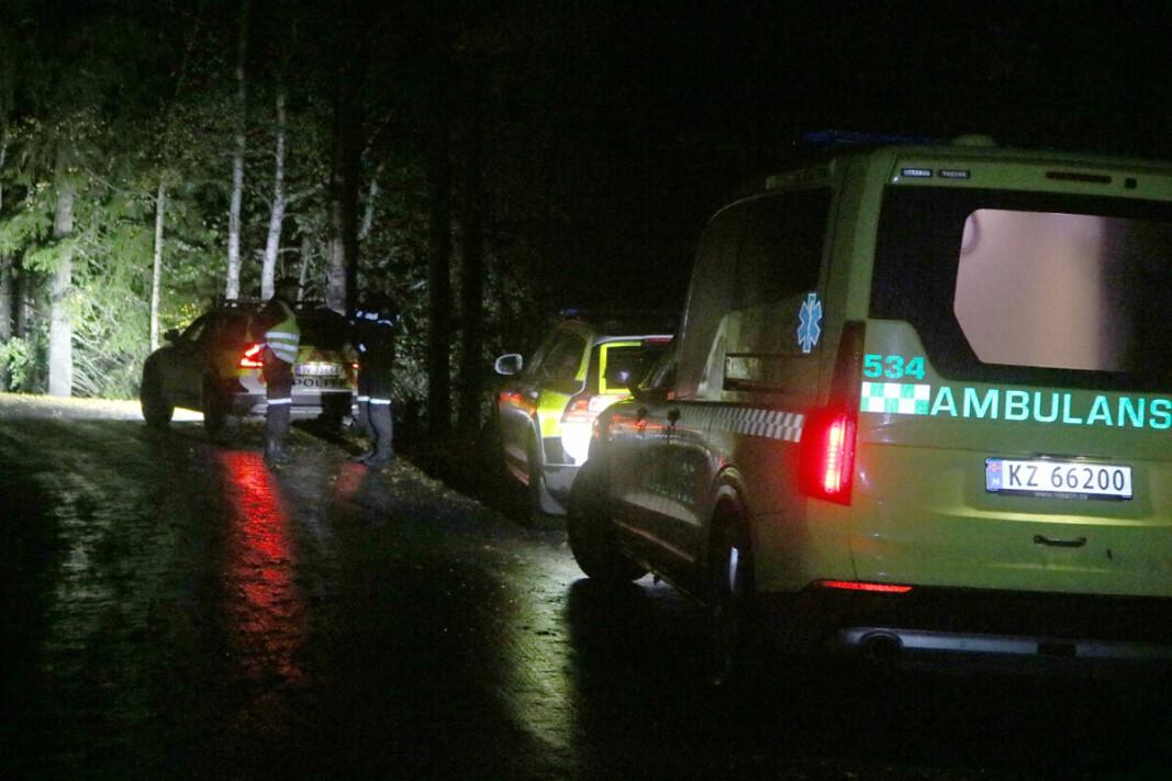 OPPRETTET SIKKERHETSSONE: Politiet sperret av området grunnet fare for eksplosjon.
