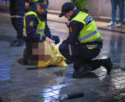 Politinatten i bilder:Rett i arresten