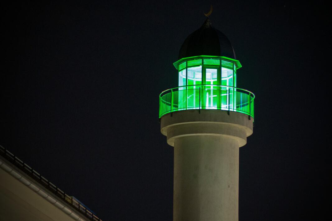 BØNNETÅRN: Her fra minareten fra moskeen på Grønland i Oslo.