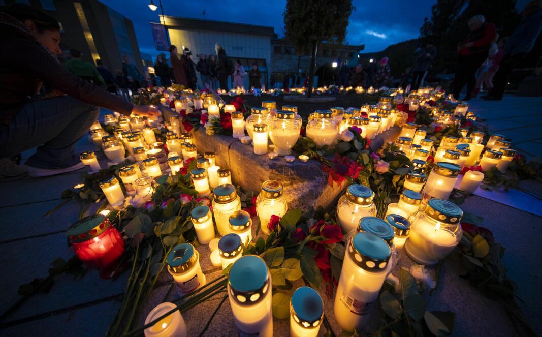 Blomsterhav minnes terror-ofrene
