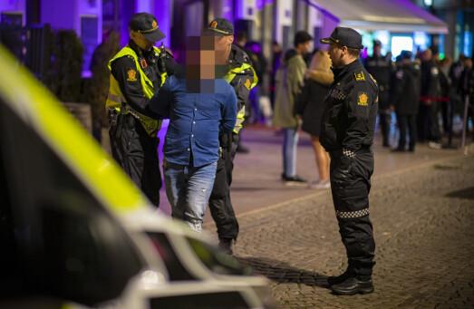 PÅ BYEN: Tre i arresten